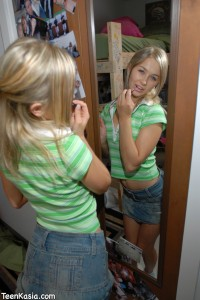 Teen Kasia Green Shirt & Denim