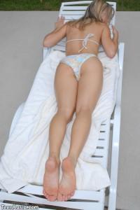 Teen Kasia Green Skinny Dipping & Sun Bathing